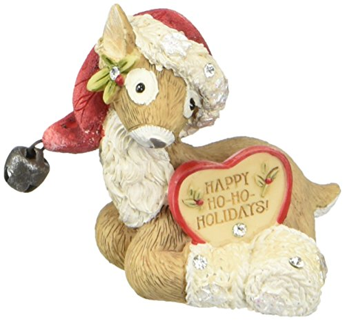 - Heart of Christmas HRTCH Reindeer with Santa Hat Figurine
