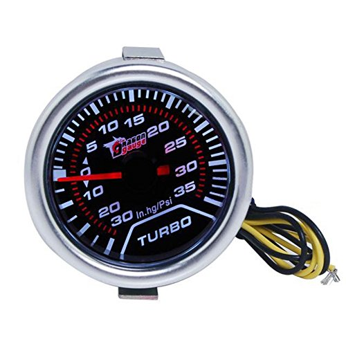 kkmoon 2pouces Digital LED Turbo Boost Meter Gauge White: