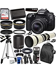 $1459 » Canon EOS 90D DSLR Camera with EF-S 18-55mm & 650-1300mm Manual Zoom Lens Essential Bundle - Includes: 2X Teleconverter, SanDisk Ultra 64GB SD Card, Spare LP-E6 Battery, Dedicated TTL Flash & More
