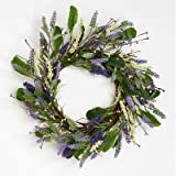 "Worth Imports 1265 20"" Lavender Wreath with Leaves on Twig Base"