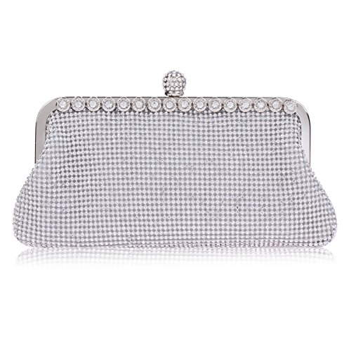 Evening Rhinestones Womens Wedding Silver Bag Damara Beads Fq4Ccg