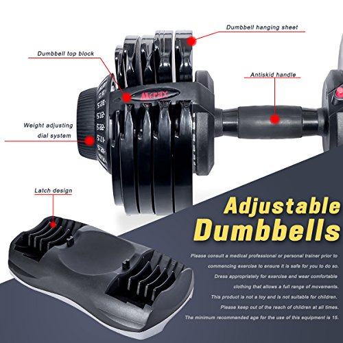 Merax Deluxe 71.5 Pounds Adjustable Dial Dumbbell (Pair. Set) by Merax (Image #3)