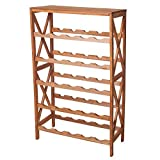 Lavish Home Classic Rustic Wood 25-Bottle Wine Rack, Brown by Lavish Home
