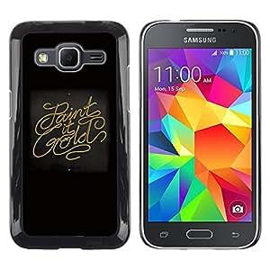 Paint It Gold - Metal de aluminio y de plástico duro Caja del teléfono - Negro - Samsung Galaxy Core Prime / SM-G360
