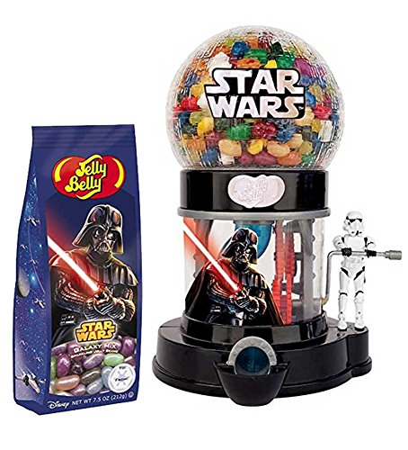 Star Wars Jelly Belly Dispenser with 7.5 OZ Galaxy Mix Bag
