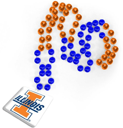 NCAA Illinois Fighting Illini Beads with Logo - Champaign Outlet