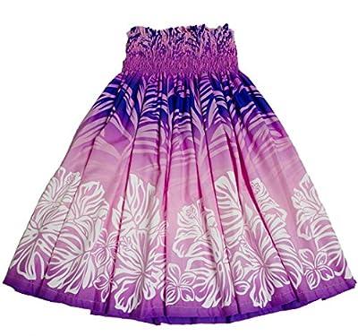 Colors of Rainbow Hawaiian Pa'u Hula Skirt Hawaii Print Flower for Womens