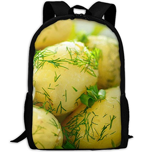 Funny Potato Cartoon Food With Herbs Adult Travel Backpack School Casual Daypack Oxford Outdoor Laptop Bag College Computer Shoulder Bags