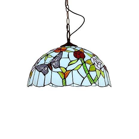 Amazon.com: Lámpara de araña estilo Tiffany de 12 pulgadas ...