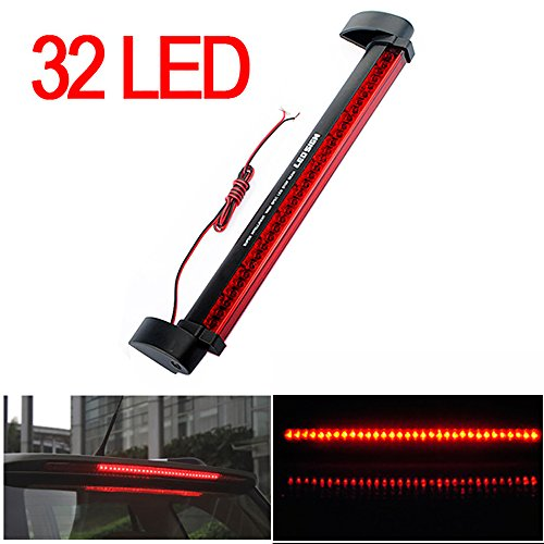 CHAMPLED® Red 32 LED DRL Car Truck Emergency Beacon Lamp Light Bar Hazard Strobe Warning For FORD CHRYSLER CHEVY CHEVROLET DODGE CADILLAC JEEP GMC PONTIAC HUMMER LINCOLN BUICK (Chevy S10 Truck Tail Lamp)