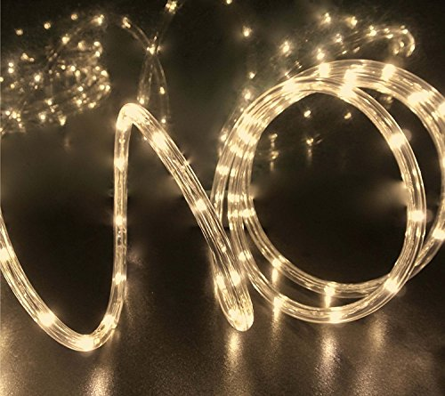 Izzy Creation 18FT Warm White LED Flexible Rope Lights Kit For Indoor / Outdoor Lighting, Home, Garden, Patio, Shop Windows, Trees, New Year, Wedding, Party, - Staircase For Ideas Decorating Christmas