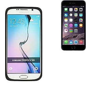parachoques silicio / caso del anillo por Apple iPhone 6, Negro | cubierta de TPU marco protector caucho de protección - K-S-Trade (TM)