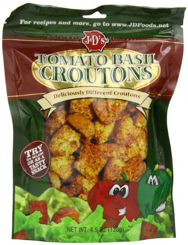 J&D's Croutons, Tomato Basil, 4.5 Ounce (Pack of 6) (Sugar Free Tomato Soup)