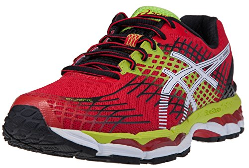 asics-mens-gel-nimbus-17-running-shoe-9-dm-us-chinese-red-white-lime