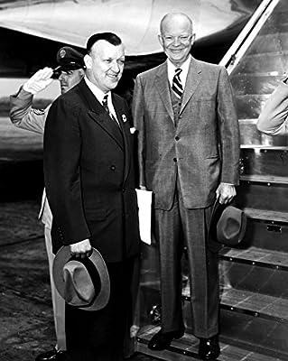 Theodore McKeldin and President Dwight D Eisenhower boarding the Presidential plane in Washington DC Photo Print (24 x 30)