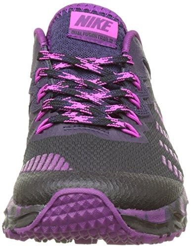 purple Schwarz Pink Schwarz Damen Traillaufschuhe 819147 NIKE 006 Grape bright Dynasty Fire UAq6n