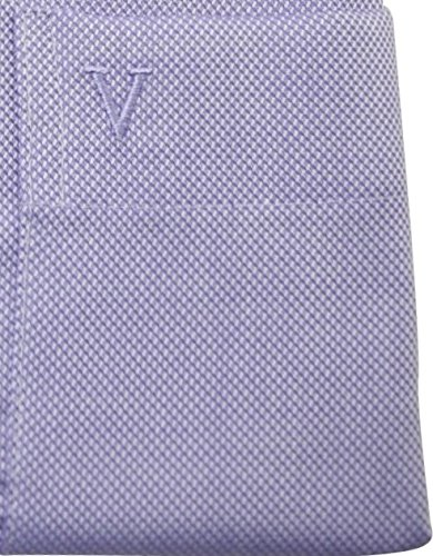 Marvelishemd modernfit lila bedrucktes Hemd halbarm New Kent mit Tasche Kollektion Size 40