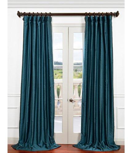Half Price Drapes PDCH-HANB83-96 Yarn Dyed Faux Dupioni Silk Curtain, Fiji