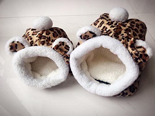 Hammock for Ferret Rabbit Guinea Pig Rat Hamster Squirrel Mice Bed Toy House (L, Leopard)
