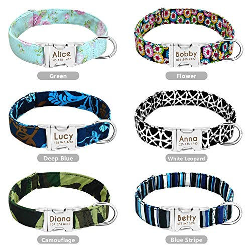 RUIQIMAO Personalized Dog Collar with Buckle Tribal Pattern Puppy Adjustable Collars for Dogs ID Collars Adjustable Collar for S, M, L