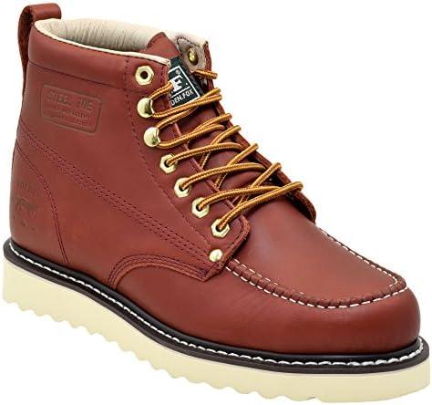 Golden Fox Steel Toe Mens Lightweight Work Boots Moc Toe Boot Insulated
