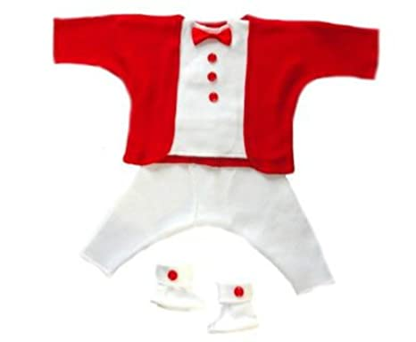 f21a97f9c Amazon.com: Jacqui's Baby Boys' Red and White Holiday Tuxedo Suit ...