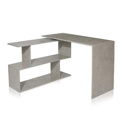 Tavolo Ad Angolo.My Sit Scrivania Ad Angolo Tavolo A Forma Di L Ufficio 120 X 77 X 50 Cm Ripiano 117 X 33 Cm Grigio Chiaro