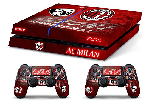 Skin Ps4 Old - AC MILAN ULTRAS CALCIO - limited edition DECAL COVER ADESIVA Playstation 4 Slim SONY BUNDLE