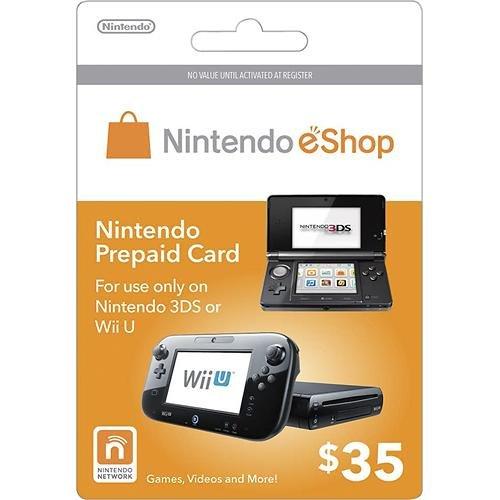Nintendo eShop $35.00 Prepaid Card for 3DS or Wii U by Nintendo