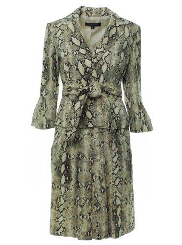 Nine West Womens Savannah Snake Print Skirt Suit Java/Tan
