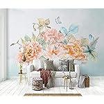 Carta Da Parati 3D Fotomurali Farfalla Rosa Floreale Camera da Letto Decorazione da Muro XXL Poster Design Carta per… 51mhaKdhZpL. SS150