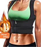 LODAY Women Neoprene Sauna Sweat Waist Trainer Vest With Zipper For Weight Loss Gym Workout Body Shaper Tank Top Shirt