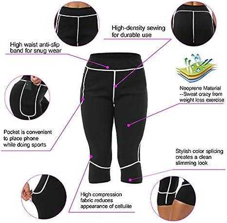 Gewichtsverlust Hosen Neoprenhose Damen Sauna Hosen Sport Yoga Leggings Hohe Taille zum Schwitzen Fettverbrennung Abnehmen/…