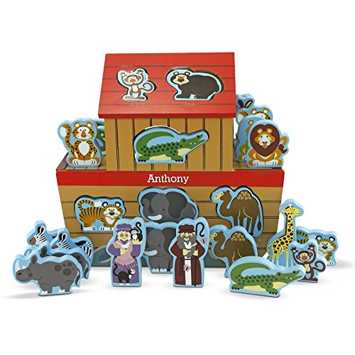 Melissa & Doug Personalized Noah's Ark Play Set Educational Toy (28 (Personalized Noahs Ark)