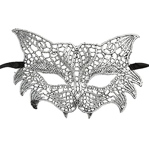 Catwoman Lace Mask for Halloween Cutout Prom Party