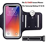 Mpow Running Phone Armband for Samsung Galaxy S5/ S6/ S7/ S6 Edge (Not for S7 Edge), with Reflective Strap + Key Holder, Adjustable Size, Suitable for Biking, Running, Hiking,Exercise