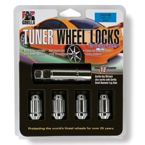 Gorilla Automotive 21631SD Small Diameter Wheel Locks (12mm x 1.50 Thread Size)