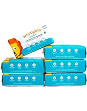 Whoopsie Wipes | Ultra-Soft - 100% Pure Cotton Dry Baby Wipes | Use Wet or Dry | Soft & Sensitive | Extra Strong & Absorbent (6-Pack (600 Count))