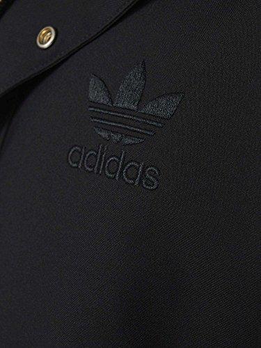 Adidas Originals Quilted Fur Parka giacca da uomo nero, Black