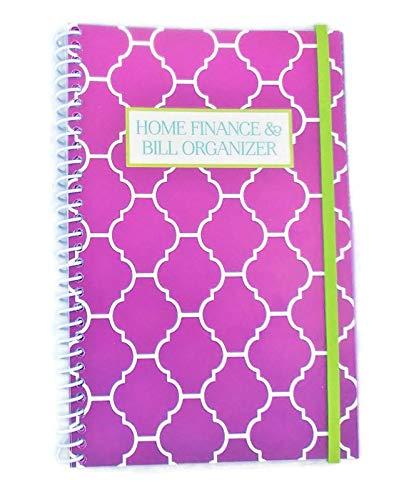 Home Finance & Bill Organizer with Pockets (Purple Arabesque) (Bill Pocket Organizer)
