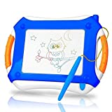 DUTISON Large Magnetic Drawing Board for Kids, Colorful Magnet Doodle Boards, Erasable Writing Sketching Pad, Education Toys for Toddlers 4 Colors Board with Pen-Blue