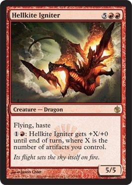 - Magic: the Gathering - Hellkite Igniter - Mirrodin Besieged - Foil