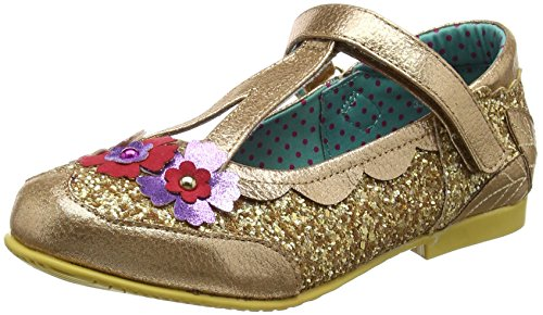 Irregular Choice Mädchen Fairy Garden Mary Janes Goldfarben