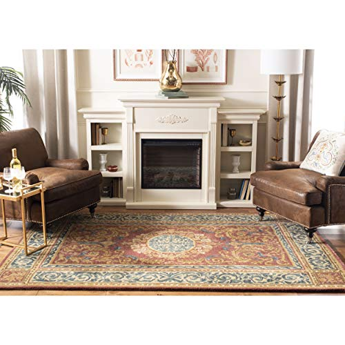 Safavieh Empire Collection EM421A Handmade Traditional European Burgundy and Gold Premium Wool Area Rug (8' x 10') (Collection Rugs Empire)