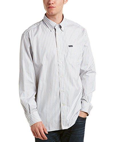 Faconnable Mens Classique Woven Shirt, S, Blue