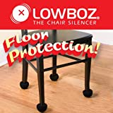 Lowboz   Floor Protection - 1 Chair Pack / BLACK