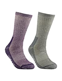 Women's Merino Wool Hiking Walking Trekking Socks - YUEDGE Warm Wool Crew Socks
