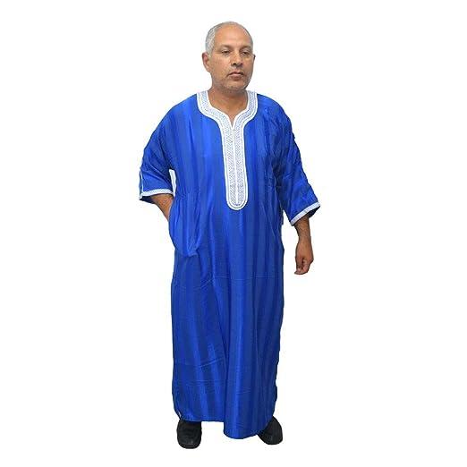 Horus Artesanía de Egipto Chilaba djelaba Caftan Tunica Modèle Arabe  marocain très Large. Satin et d0dffb03a1c