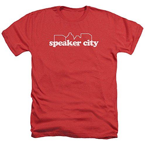 2Bhip Old School College Frat Comedy Movie Speaker City Logo Adult Heather T-Shirt Tee -
