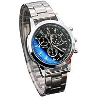 Snowfoller Men Pro Wrist Watch Fashion Stainless Steel Automatic Watch Sport Quartz Analog Casual Watch,Color Silver (Black)